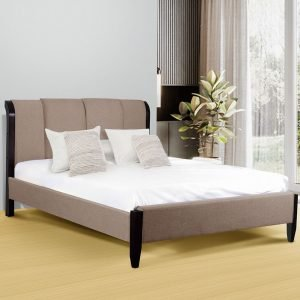 Lit King Size Roumanie 180X200 Cappuccino Beige chambre simple